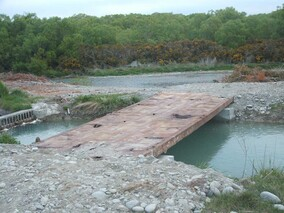 Bridge Constructed over Irrigation Ditch